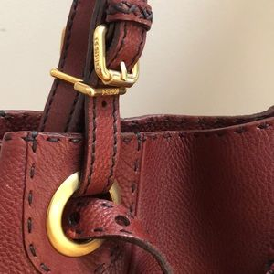 e419fcd2a9f3 Fendi Bags - Fendi Burgundy Leather Selleria Pomodorino Bag New